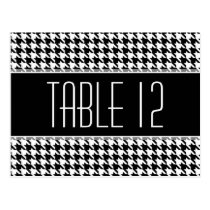 Wedding Table Number Sign HOUNDSTOOTH