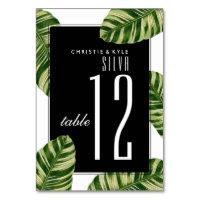 Wedding Table Number | Vintage Palm Tree Beach