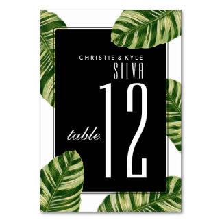 Wedding Table Number | Vintage Palm Tree Beach Card