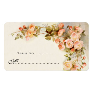 Wedding Table Number, Vintage Roses Double-Sided Standard Business Cards (Pack Of 100)