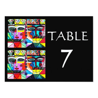 Wedding TABLE NUMBERS - Day Of The Dead Card