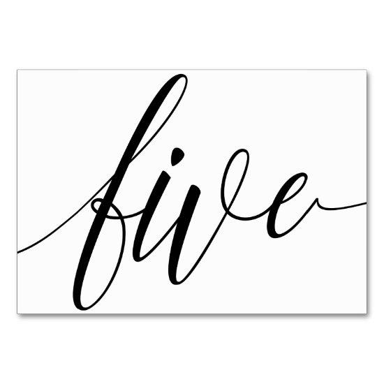 Wedding Table Numbers - Luxe Typography (Black) 5