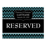 Wedding Table RESERVED Sign Modern Pattern Post Card