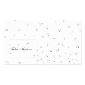 Wedding Table Setting Cards Business Cards