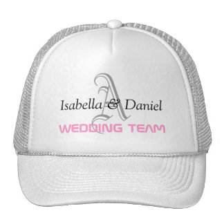 WEDDING TEAM MONOGRAM HATS