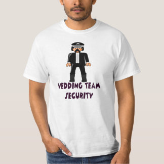wedding team security t shirt