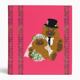Wedding Teddy Bears on Pink Binder