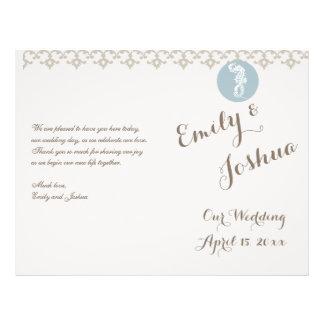 Wedding Template Custom Program Flyer