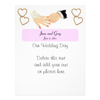 Wedding Template with Gold Entwined Hearts Flyer
