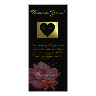 Wedding Thank Card Flower Collection Rock Rose Personalized Rack Card