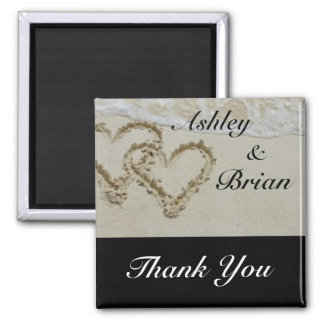 Wedding Thank You 2 Inch Square Magnet