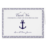Wedding Thank You, Anchor Sailing Greeting Cards