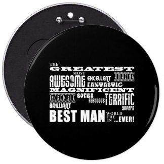 Wedding Thank You Best Men : Greatest Best Man Pinback Button