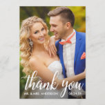 "Wedding Thank You Bride and Groom Photo Card<br><div class=""desc"">Wedding Thank You Bride and Groom Photo Card</div>"