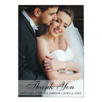 Wedding Thank You Bride & Groom Photo Card WS