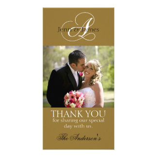 Wedding Thank You Bride Groom Photo Cards