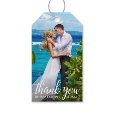 Bride Themed Wedding Thank You Bride Groom Photo Gift Tags