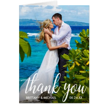 Bride Themed Wedding Thank You Bride Groom Photo Note Card