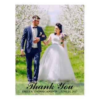 Wedding Thank You Bride & Groom Photo Postcard B L