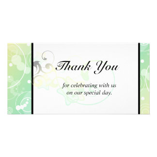 Wedding Thank You Bubble Star Fairy Tale Photo Greeting Card