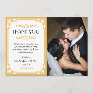 Thank You Photocards Weddings Zazzle