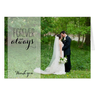 Wedding Thank You Card - Forever and Always