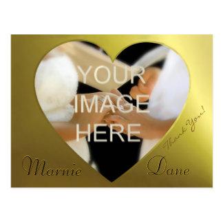 Wedding Thank You Card   Golden Heart Collection Postcards