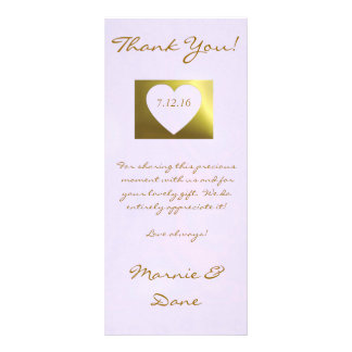 Wedding Thank You Card  Lavender Golden Collection