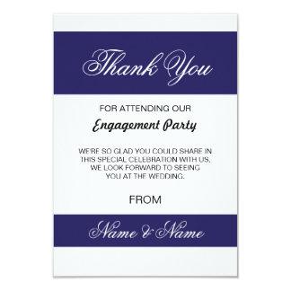 Wedding Thank You Card Navy and White Stripe