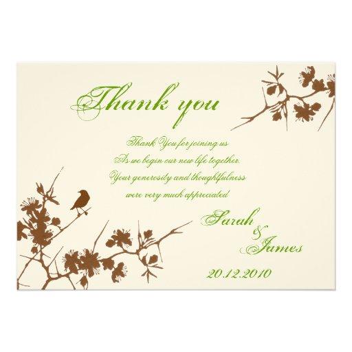 wedding thank you card 5 x 7 invitation card zazzle