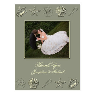 Wedding Thank You card, photo template Postcard