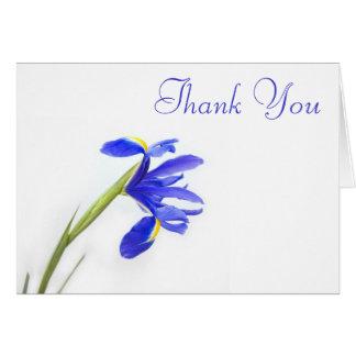 Wedding Thank You Card - purple iris flower