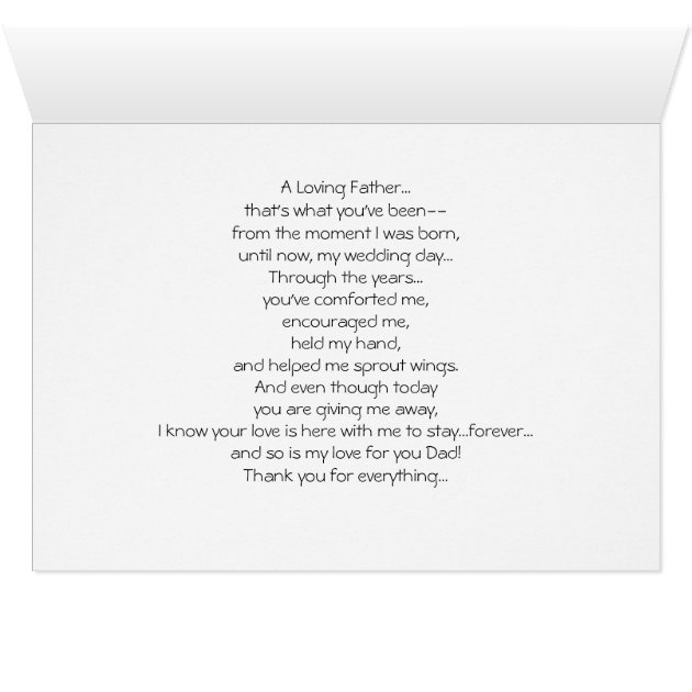 Wedding Thank You Card to Parent Dad | Zazzle.com
