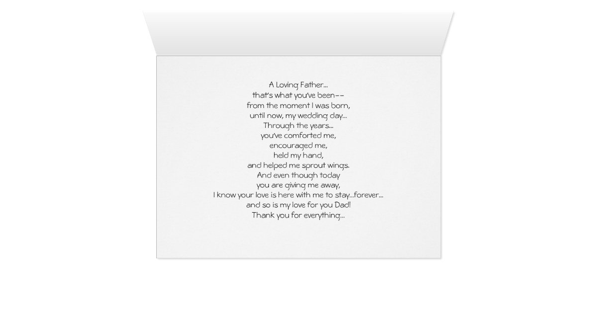 Thank Letter To Parents For Wedding: Wedding Thank You Card To Parent Dad