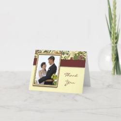 Wedding Thank You cards card