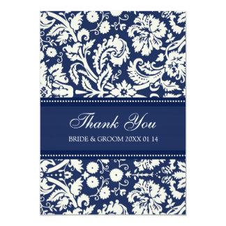 Wedding Thank You Cards Blue Damask