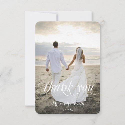 Wedding Thank You Cards Custom Photo