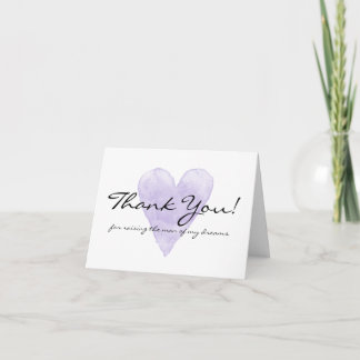 Wedding thank you cards for mother in law