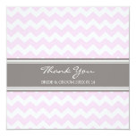 Wedding Thank You Cards Pink Gray Chevron
