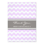 Wedding Thank You Cards Purple Gray Chevron