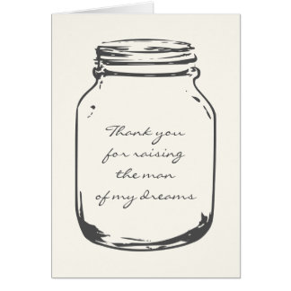 Wedding thank you cards with vintage mason jars