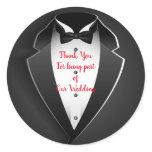 Wedding Thank You Classic Round Sticker