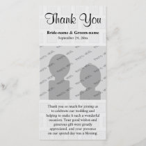 Wedding Thank You Design Pale Gray with Squares.