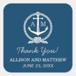 Wedding Thank You Favor Sticker   Nautical Theme