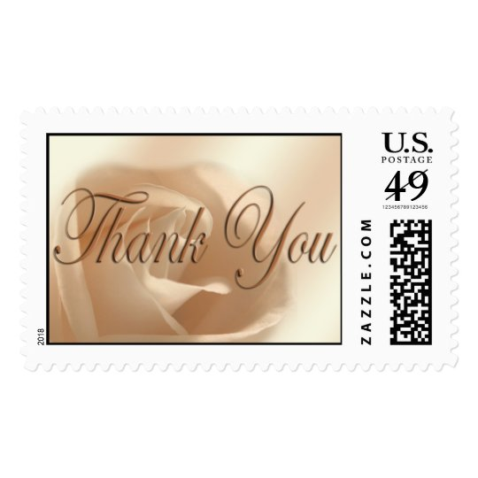 Wedding Thank You Gift Acknowledgement Rose Photo Postage