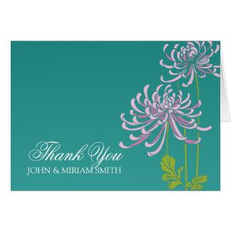 Wedding Thank You Greeting Chrysantemum Card
