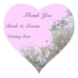 Wedding Thank You Heart Sticker sticker