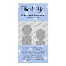 Wedding Thank You in Light Blue with White Stars. Card