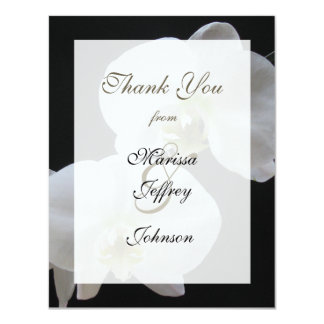 Wedding Thank You Invitation Card -- Orchids