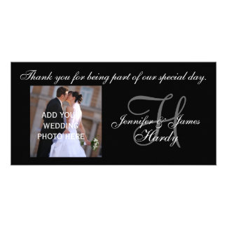 Wedding Thank You Monogram H and Message Card